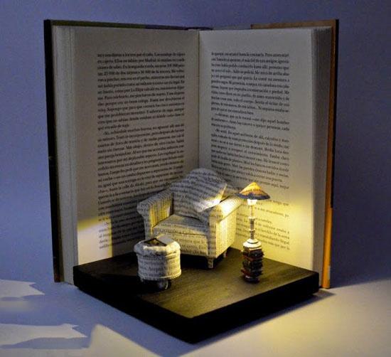 تصاویر جالب از مجسمه های کتابی