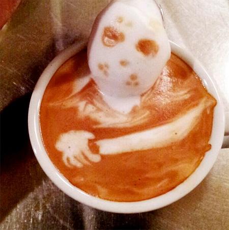 تصاویر خوشمزه از هنرنمایی های زیبای برجسته روی قهوه