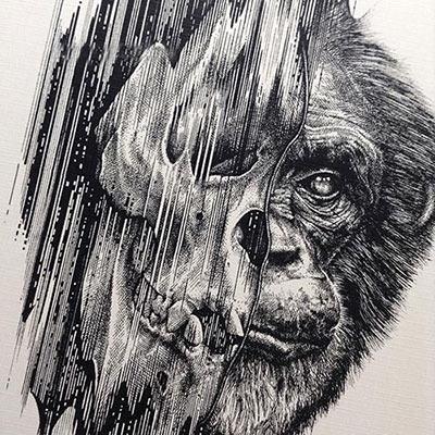 نقاشی های فوق العاده زیبا و مفهومی سیاه قلم