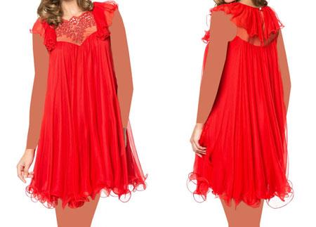مدل لباس مجلسی کوتاه حریر و گیپور 2015 با رنگ ها و مدل های متفاوت