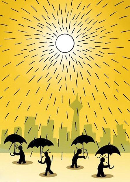 کاریکاتور گرمای هوای تابستان