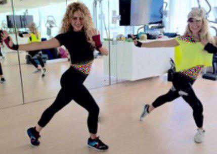 تمرینات ورزشی برای لاغری به سبک شکیرا بعد از زایمان