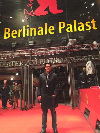 محمدرضا گلزار با تیپ خفن در جشنواره برلین آلمان
