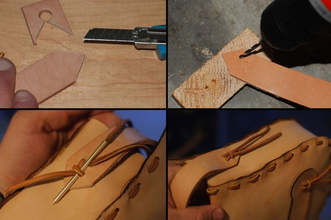 آموزش دوخت کیف چرم زنانه