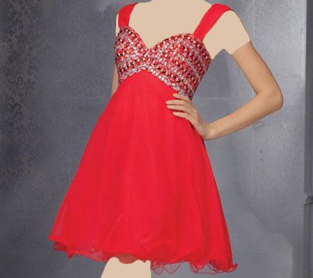 مدل های لباس شب اندامی و پرنسسی کوتاه 2015