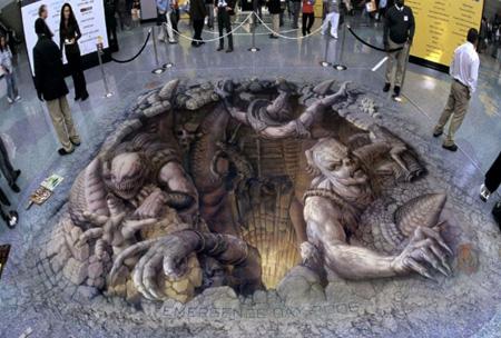 تصاویری رعب انگیز از نقاشی های سهبعدی