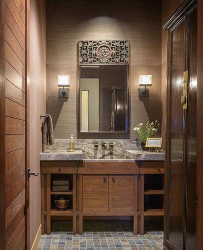 زیباترین و آرامبخش ترین دیزاین های حمام با سنگ
