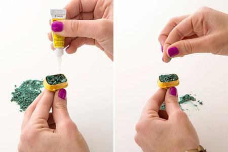 تزیین انگشترهای قدیمی با نگین های کهنه