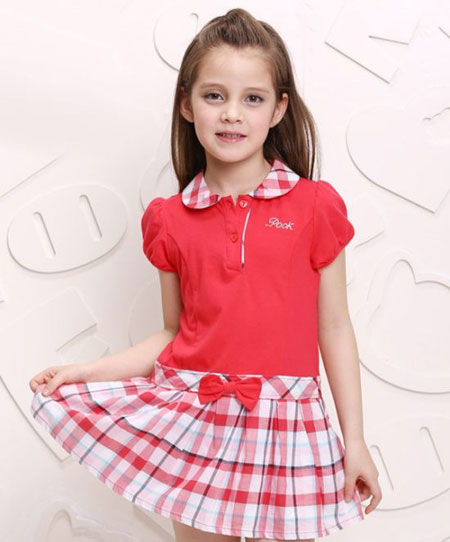مدل لباس دخترانه سارافونی کلوش 2015