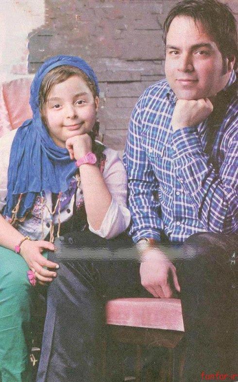 رابطه صمیمانه پدر دختری شهرام قائدی و دخترش