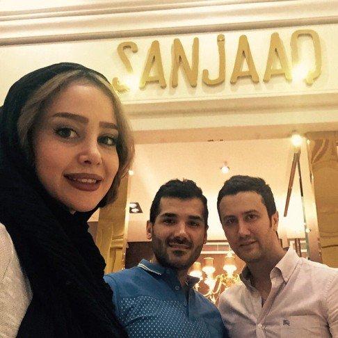 سلفی جدید الناز حبیبی و شاهرخ استخری در کنار هم