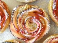 طرز تهیه شیرینی رز زیبای سیب و زردالو