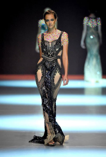 مدل لباس شب بهار و تابستان 2015 دنی تبت ( تابت ) طراح لبنانی