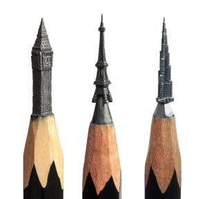 کنده کاری های جالب و بسیار ریز روی مداد