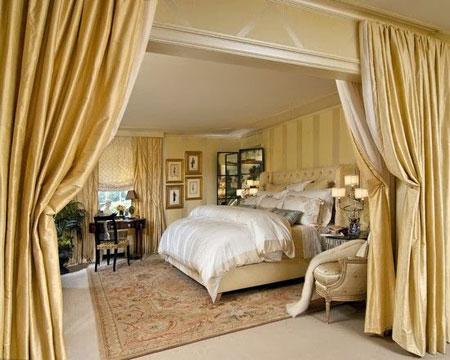 دکور بسیار زیبای اتاق خواب های لوکس سلطنتی