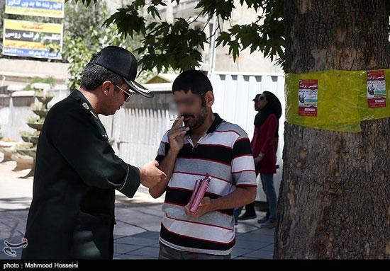 تصاویری از طرح برخورد پلیس با روزه خواران در تهران