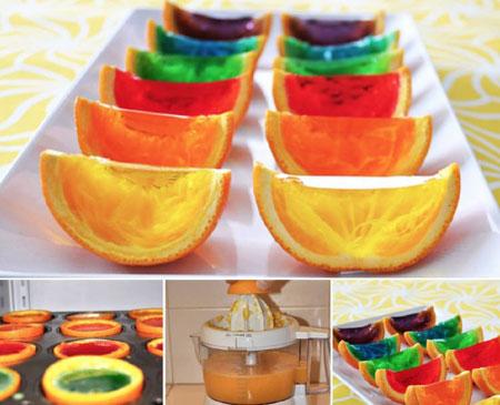 تزیینات ژله میوه ای دسر های زیبا و خوشمزه