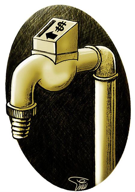 کاریکاتور های صرفه جویی در مصرف آب
