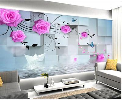 با رنگ مناسب کاغذ دیواری به خانه تان روحیه بدهید