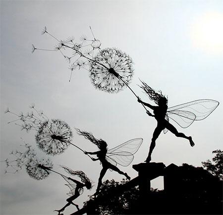 تصاویر جالب از مجسمه های فانتزی سیمی