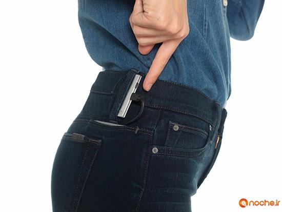 این شلوار جین یک شارژر تمام عیار است