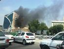 تصاویر آتش سوزی مجتمع بزرگ تفریحی مسکونی مدرن در بندرعباس