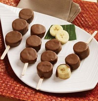 تزیینات بسیار جالب میوه با شکلات برای پزیرایی