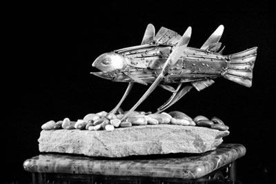 مجسمه های جالب ساخته شده توسط قاشق چنگال و چاقو