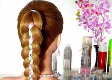 آموزش مرحله به مرحله و تصویری بافت مو با ربان