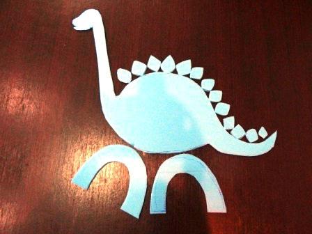آموزش ساخت کاردستی دایناسور