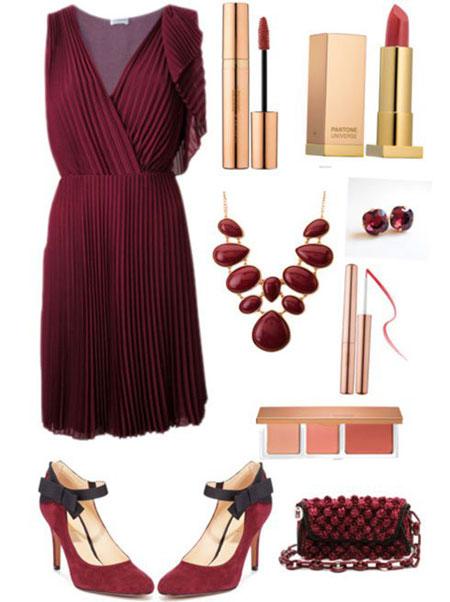 آموزش ست لباس شب تان را به رنگ سال 2015