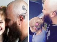 پدری نیوزلندی به خاطر دختر ناشنوایش درد خالکوبی را به جان خرید