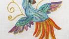 آموزش دوخت گلدوزی مبتدی مدل مارپیچ دو رنگ