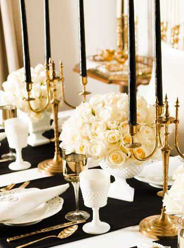 عروسی به سبک مشکی و طلایی مد 2015