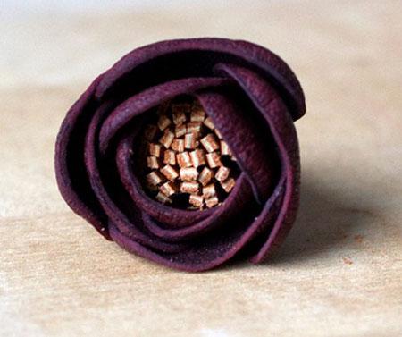 آموزش چرم دوزی سری ساخت گل رز چرمی