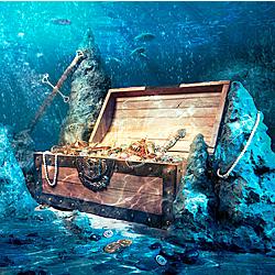 کشف گنج در اقیانوس توسط گروه تحقیقاتی جویندگان گنج در فلوریدا