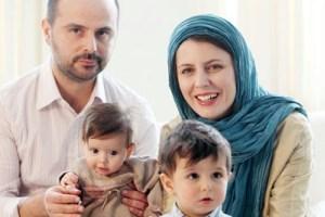 خانواده لیلا حاتمی و علی مصفا و فرزندانشان در مراسمهای مختلف