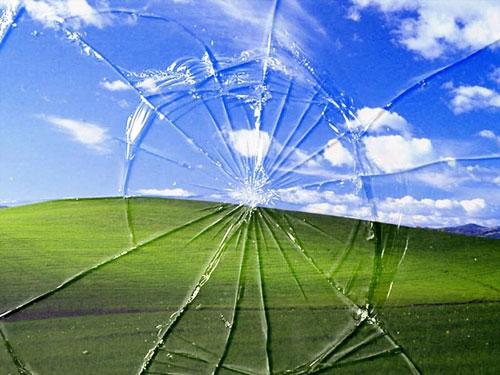 تصویر خشکسالی حتی در ویندوز XP