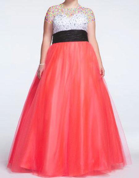 مدلهای لباس شب برای خانم های چاق و درشت