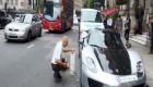 لامبورگینی که برای حمام یک ساعت ترافیک ایجاد کرد