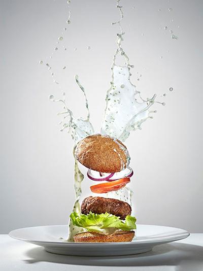تصاویر تبلیغاتی جالب از پرواز انواع غذا تو هوا