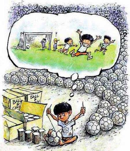 کاریکاتور های غم انگیز کودکان کار