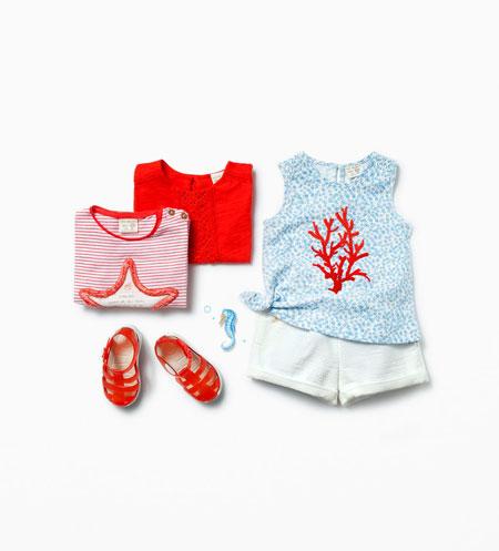 ست لباس دخترانه 2015 برند زارا