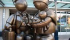 آثار هنری جالب شخصیت های غول پیکر برنزی
