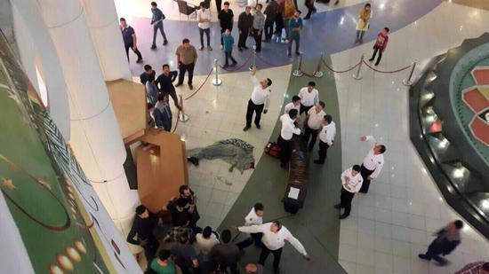 تصاویر خودکشی دلخراش و جنون آمیز در مجتمع تجاری الماس شرق