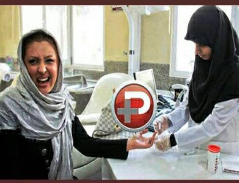 چهره طنز نیوشا ضیغمی در حال اهدای خون