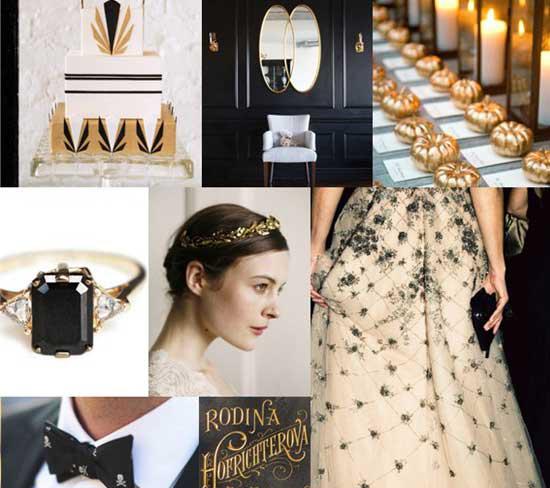 مدل جدید عروسی به سبک مشکی و طلایی مد 2016