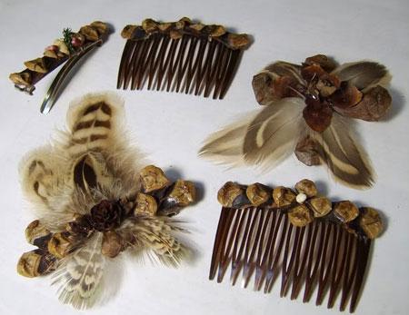 ایده هائی برای تزئینات گیره و زیور آلات کاجی!