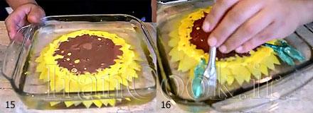 آموزش ژله تزريقي مدل گل آفتابگردان به صورت تصويري