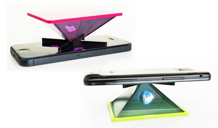 تماشای تصاویر سه بعدی جذاب هولوگرافیک با استفاده از گوشی هوشمند